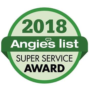 2018 Angie's List Super Service Award received by MCE Roofing