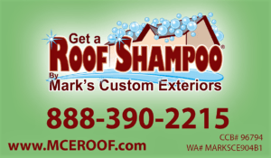Roof Shampoo moss removal services by MCE Roofing