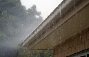 Overflowing gutters
