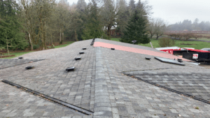 Before picture of roof replacement by MCE Roofing